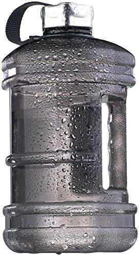 Speeron Wasserflasche: Auslaufsichere Trinkflasche mit Tragegriff, 2,3 l, BPA-frei, schwarz (Trinkflasche Fitness)