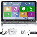 Universal 7 inch Touchscreen GPS navi Car Radio DVD Player Stereo built-in Bluetooth In Dash Double 2 din car Video SD map Remote control headunit AM/FM Radio with Station Memory