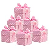 50 Stück Süße Geschenkboxen (rosa) Gastgeschenk für Hochzeit Babyparty Taufe Geburt