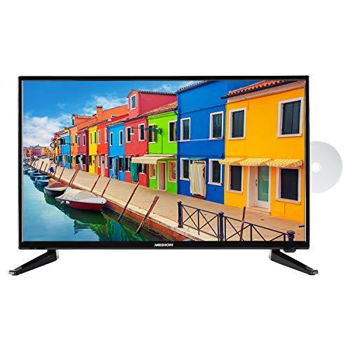 MEDION E12835 69,9 cm (27,5 Zoll) HD Fernseher (HD Triple Tuner, DVB-T2 HD, integrierter DVD-Player, CI+, Mediaplayer)