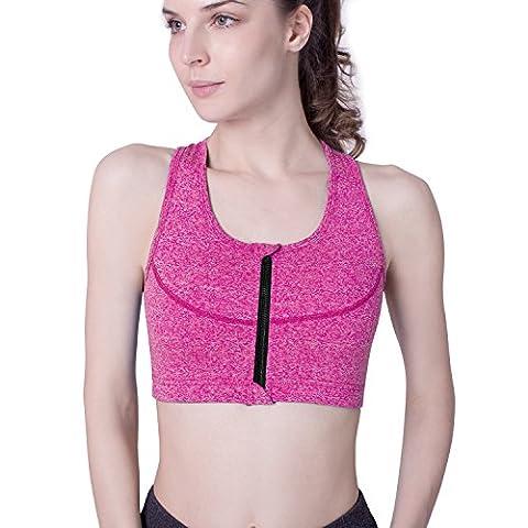 Sport BH Frontline Sport BH Teenager Sport BH pink Sport Bustier rosa Sport BH bügellos mit Polster starker Halt push up von Your Choice
