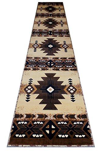 Concord Global Trading South West Native American lang Läufer Bereich Teppich Design C318 Berber (81,3 cm X 15 Füße 15,2 cm) - Beige Tan Teppich