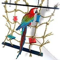 Ecoolbuy Acrylique Corde Filet balançoire Échelle jouet pour animal domestique Parrot Oiseaux Chew jouer d'escalade