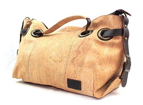 CORK TOP-HANDLE BAG ECO-FRIENDLY by Dux Cork GENUINE PORTUGUESE PREMIUM Cork Fabric 100% QUALITY GUARANTEE FREE DELIVERY
