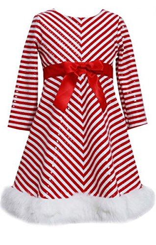 Zuckerstangen-Kleid mit Pailetten und Plüsch von Bonnie Jean Gr. 128,134,140,152,164,170 Größe 164 Bonnie Jean Kleid 14