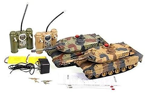 TANK RC SET DUO DE COMBAT CHAR Abrams INFRAROUGE RTR 1-16