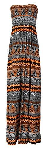 Fast Fashion Damen Maxi Kleid Plus Größe Leopardstreifen Tie-Dye Blumendruck -