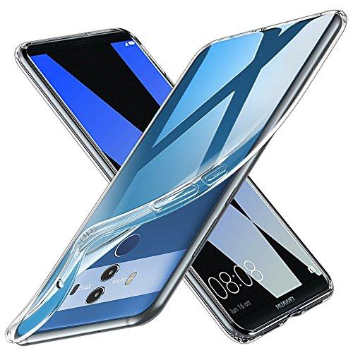 TOPACE Hülle für Huawei Mate 10 Pro, TPU Hülle Schutzhülle Crystal Case Durchsichtig Klar Silikon transparent für Huawei Mate 10 Pro (Transparent)