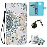 PU für Galaxy S8 Hülle – Premium Luxuriös PU lederhülle [Vollständigen Schutz] [Kreditkartenfach] Flip Brieftasche Schutzhülle im Bookstyle für Samsung Galaxy S8 (Staubstecker X1) (3)