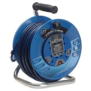 Advanced 3 Socket 50 Metre Heavy Duty Cable Extension Reel 13amp 240v [Pack of 1] - Min 3yr Warranty