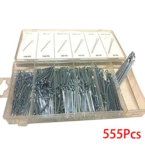 Demino 555PCS Uhrenarmband-Verbindungs-Fessel Splinte Sortiment Reparatur-Werkzeug-Sets U-förmige Hardware ASSORT Kit mit Fall - Fall-hardware-kit