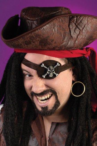 Caribbean Pirate Eye Patch Kit by Fun ()
