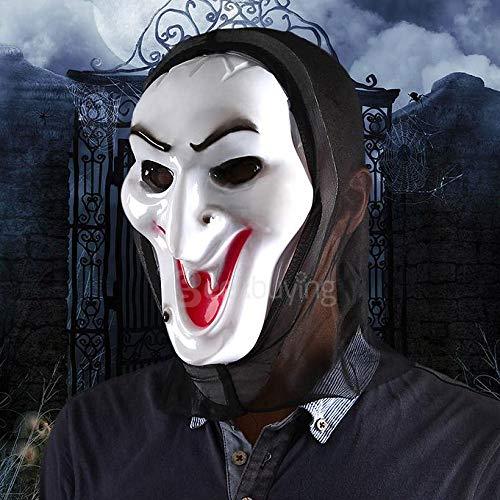 Maschera halloween ghost, bahpaud maschera di strega con faccia bianca per halloween, carnevale e party masquerade.