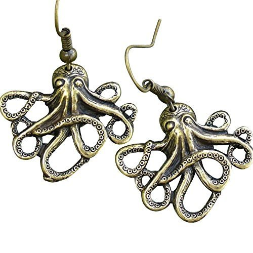 Steampunk Octopus Nautical Pirate Earrings Pendant Charm by umbrellalaboratory (Steampunk Pirate)
