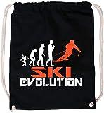 EZYshirt Ski Evolution Baumwoll Stoffbeutel