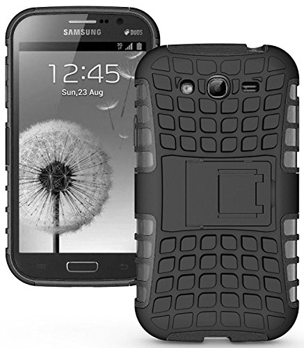 Heartly Flip Kick Stand Spider Hard Dual Rugged Shock Proof Tough Hybrid Armor Bumper Back Case Cover For Samsung Galaxy S3 S 3 i9300 - Rugged Black  available at amazon for Rs.429