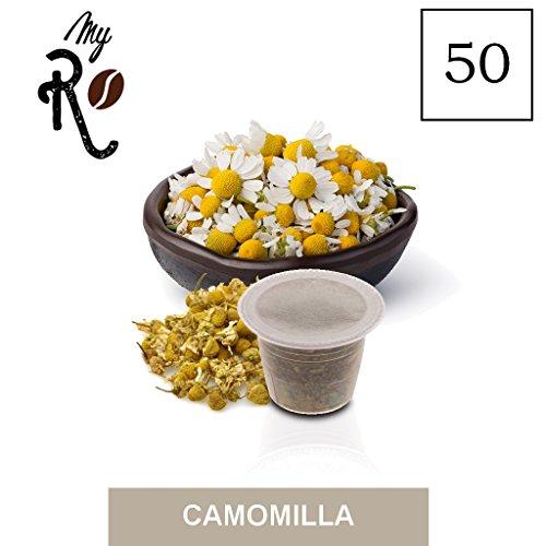 FRHOME - 50 Cápsulas de Tisana compatibles Nespresso - Tisana Manzanilla - MyRistretto
