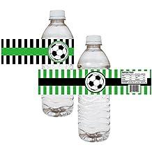 Adorebynat Party Decorations - EU Etiquetas de la Botella de Agua del Partido de fútbol -