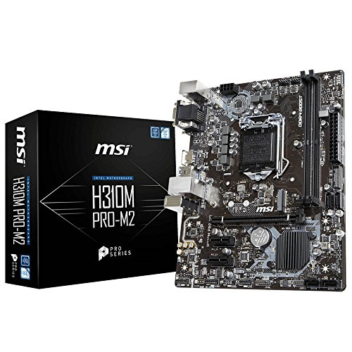 MSI H310M Pro M2 - Placa Base (Intel H310, S 1151, DDR4, MicroATX), Color Negro