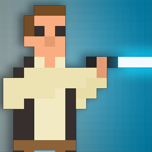Galactic Pixel Wars - The Farce Awakens - 8bit battle Combat Duel (Han Solo Laser)