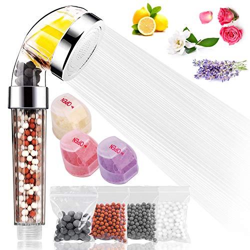Tintec Potente filtro de ducha de mano con vitamina C para agua dura y baja presión, 4 bolas minerales...