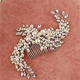 MJW&G Damen Blumenmädchen Legierung Künstliche Perle Kubikzirkonia Kopfschmuck-Hochzeit Besondere Anlässe Haarkämme 1 Stück , ivory