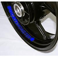 EUFBA Ducati Monster Motorradfelge Aufkleber Aufkleber Streifen Gloss Blue