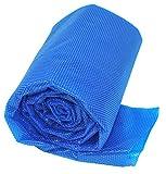 Gre CPERT84 - Copertura estiva per piscina interrata rettangolare da 800 x 400 cm, colore blu