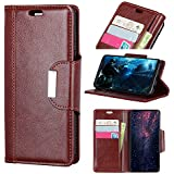Huawei Honor 8X Flip Cover Case, Danallc Carry Case Card Slot [Stand Feature] Leather Wallet Case Vintage Book Style Magnetic Protective Cover Holder For Huawei Honor 8X - Brown