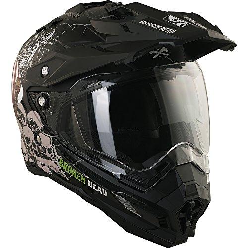 Enduro Helm mit Sonnenblende Broken Head Fullgas Viking matt schwarz - Cross Helm - MX Helm - Quad Helm (XL 61-62 cm) - 3