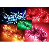 Rice Lights 5 10 15 METER LENGTH Serial Bulbs Home Decoration Lighting For Diwali Christmas Navratra Lighting Random Colors (10, 10 Meter)