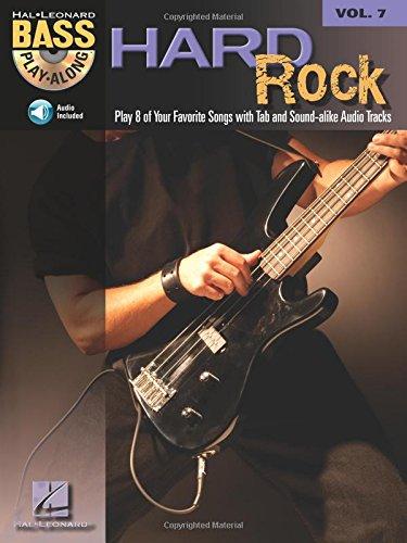 Hard Rock: Noten, CD für Bass-Gitarre (Bass Play-along, Band 7) (7-string E-bass)