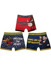 9d1b816bdfddc7 Gaffer Mens Boys Rude Novelty Boxer Shorts Trunks Underwear