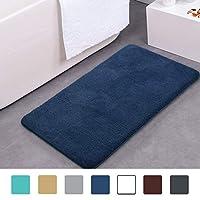 mayshine 50x80 cm Dark Blue Non-slip Bathroom Rug Bath Mat Machine-washable Soft Microfiber