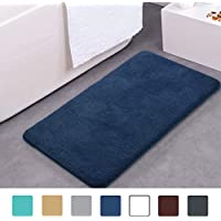 MAYSHINE 50x80 cm Dark Blue Non-slip Bathroom Rug Bath Mat Machine-washable Soft Microfiber