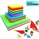 Origami Papier Faltpapier - 920 Blatt Doppelseite Bastelpapier Set für Origami und Bastelprojekte
