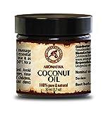 Kokosöl 50ml - Kaltgepresst - Cocos Nucifera - Indonesien - 100% Rein & Natürlich - Kokosnussöl - Glas - Unraffiniert - Körperbutter - Pflege für Gesicht - Körpe - Haar-Körperpflege