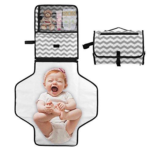 Hoovo Tragbare Wickelunterlage für Unterwegs Wasserdicht Wickeltisch Abwaschbar für Home Reisen Außerhalb