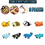 LCLrute 8Pcs Cable Bite for iPhone Cable Cord Animal Phone Accessory Protects Cute New