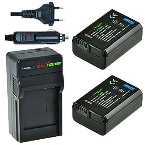 ChiliPower Sony NP-FW50 Kit: 2x Batterie (1100mAh) + Chargeur pour Sony Alpha 7, a7, Alpha 7R, a7R, Alpha a3000, Alpha a5000, Alpha a6000, NEX-3, NEX-3N, NEX-5, NEX-5N, NEX-5R, NEX-5T, NEX-6, NEX-7, NEX-C3, NEX-F3, SLT-A33, SLT-A35, SLT-A37, SLT-A55V, Cybershot DSC-RX10