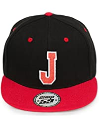 4sold ABC Letter Snapback Cap in Red Black/White with Letters A to Z