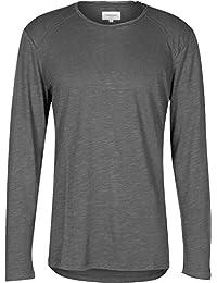 NOWADAYS - Herren- Dunkelgraues T-Shirt ML Basic für herren