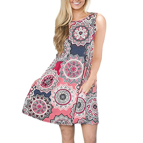 QingJiu Frauen Rock Floral Tank Maxi Kleid Tasche Sleeveless Lässige Sommer Langes Maxi Kleid