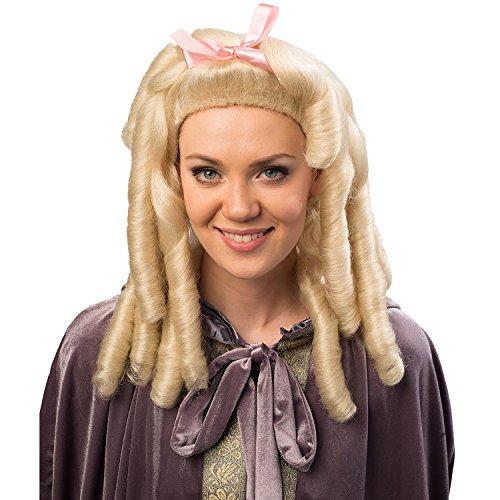 cke Rokoko mit Korkenzieherlocken Blond Barock Adel Fasching Karneval (Blonde Renaissance Perücke Kostüme)