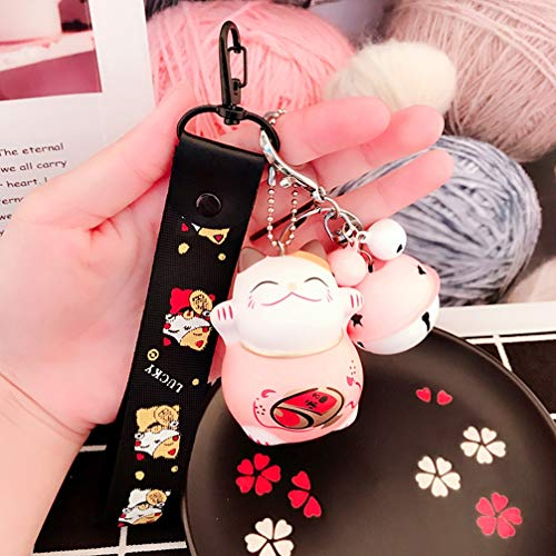 Xlq Schlüsselanhänger Für Mädchen, Cartoon Glückliche Katze Figur Schlüsselanhänger Männer Und Frauen Anhänger Auto Schlüsselanhänger Katze,B