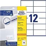 Avery Zweckform 6175 - Etichette universali, 25 fogli, 300 etichette, 105 x 48 mm, colore: Bianco