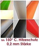 Carbonfolie Carbon Folie (= 29,52€/m2) Auto Bike Laptop Handy * Blasenfrei schwarz weiß orange grün rot silber (150 x 35 cm, rot)