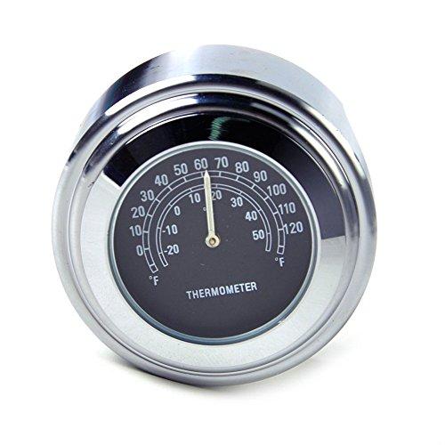 Honeyhome Motorrad DIY Universal Motorrad Lenker Thermometer fuer Harley 25/22MM 7/8