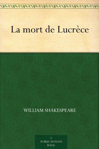 Couverture du livre La mort de Lucrèce