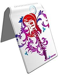 Stray Decor (Guitar Bloom) Étui à Cartes / Porte-Cartes pour Titres de Transport, Passe d'autobus, Cartes de Crédit, Navigo Pass, Passe Navigo et Moneo
